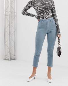 Вельветовые джинсы в винтажном стиле с завышенной талией Abrand 94 - Синий