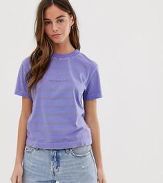 Фиолетовая футболка с полосками Quiksilver - Фиолетовый