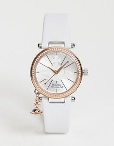 Часы с кожаным ремешком пастельного цвета Vivienne Westwood VV006RSWH - Белый