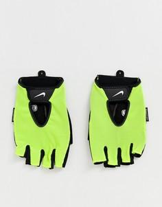 Неоновые спортивные перчатки Nike Training Fundamental - Желтый