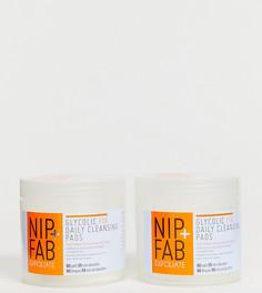 Набор Отшелушивающих ватных дисков NIP+FAB X ASOS EXCLUSIVE Glycolic Fix Daily Cleansing - СКИДКА 50 - Бесцветный