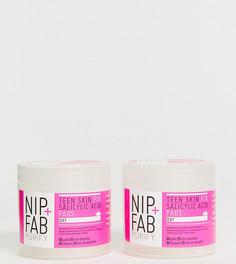 Набор отшелушивающих ватных дисков NIP+FAB X ASOS EXCLUSIVE Teen Skin Fix Salicylic Acid Day Pads - СКИДКА 50 - Бесцветный