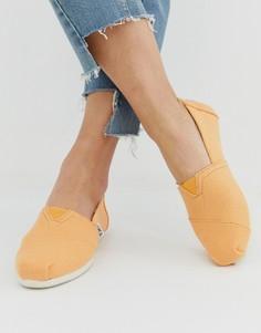 Классические парусиновые туфли TOMS - Оранжевый