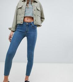 Синие джинсы скинни с заниженной талией Pull&bear - Синий