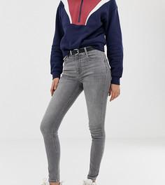Серые джинсы скинни с классической талией Pull&Bear - Серый