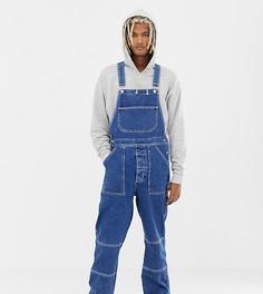 Выбеленные джинсовый комбинезон COLLUSION - Синий