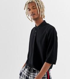 Черная футболка-поло свободного кроя COLLUSION - Черный