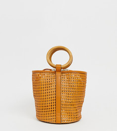 Светло-коричневая плетеная сумка Pull&Bear - Коричневый