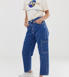 Прямые джинсы с большими карманами Pull&Bear - Синий