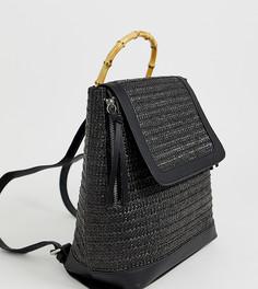 Черный рюкзак с деревянной ручкой Stradivarius - Черный