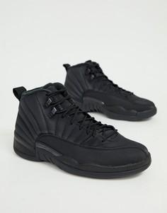 Черные кроссовки в стиле ретро Nike Air Jordan 12 - Черный