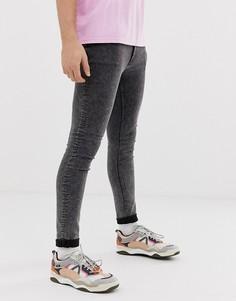 Черные супероблегающие джинсы Cheap Monday - Черный