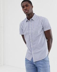 Рубашка в полоску с короткими рукавами Wrangler - Синий