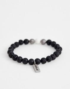 Черный браслет из натуральных камней Replay - Черный