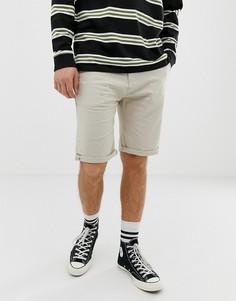 Светло-бежевые льняные шорты Esprit - Светло-бежевый