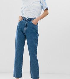 Джинсы в винтажном стиле из жесткого денима Pull&Bear - Синий