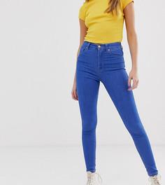 Синие джинсы скинни с завышенной талией Pull&Bear - Синий