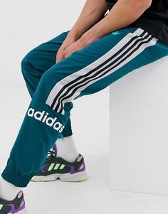 Зеленые тканые джоггеры с 3 полосами adidas originals - Зеленый