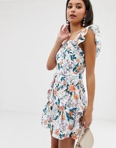 Платье с цветочным принтом и вышивкой ришелье Talulah Fly Away - Белый