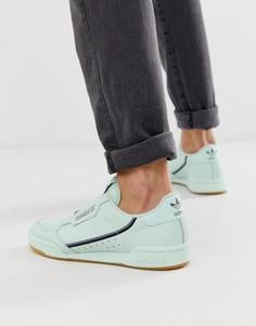 Кроссовки мятно-зеленого цвета в стиле 80-х adidas Originals contintental - Зеленый