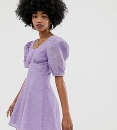 Сиреневое платье мини из шамбре COLLUSION - Фиолетовый