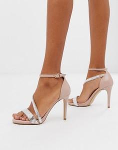 Асимметричные босоножки на каблуке Carvela - Бежевый