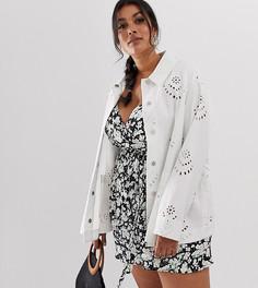 Жакет с вышивкой ришелье ASOS DESIGN Curve - Белый