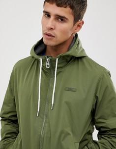 Бомбер цвета хаки с капюшоном Esprit - Зеленый