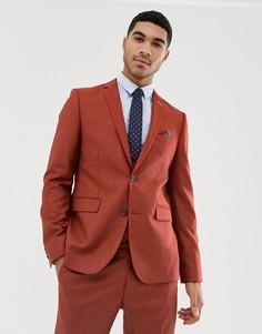 Красный фактурный пиджак скинни Harry Brown - Красный