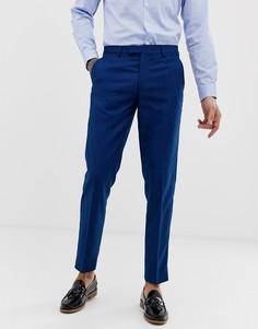 Узкие синие фактурные брюки Harry Brown - Синий