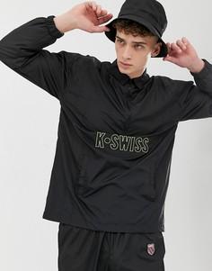 Черная спортивная куртка с короткой молнией K-Swiss - Черный