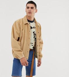 Светло-коричневая вельветовая спортивная куртка COLLUSION - Рыжий