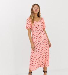 Платье миди с принтом эксклюзивно от Lily & Lionel - Розовый