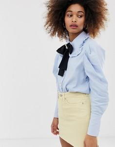 Рубашка с завязкой на бант и пуговицами Sister Jane - Синий