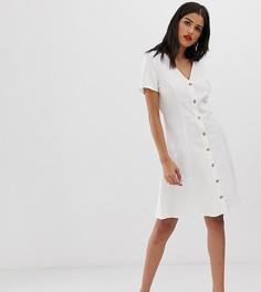 Чайное платье на пуговицах Vero Moda Tall - Белый