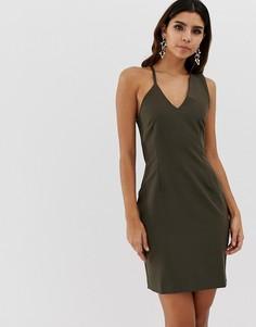 Облегающее платье на бретельках Vesper - Зеленый