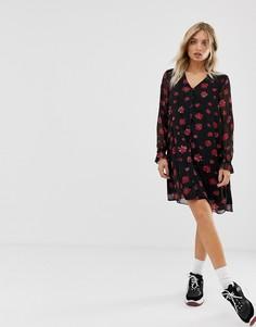 Свободное платье с цветочным принтом Moves By Minimum - Мульти