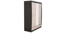 Шкаф распашной трехдверный Корсика (ясень глянец+зеркало/дуб феррара) Home Me