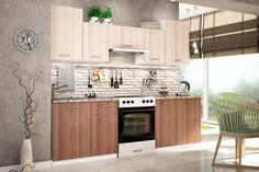 Кухонный гарнитур Хельсинки 240 см (белый/ясень светлый/ясень темный) Home Me