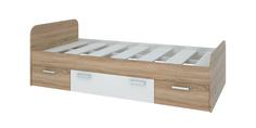 Кровать односпальная 190х90 Лакки без подъемного механизма (дуб сонома/белый) Home Me