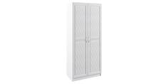 Шкаф распашной двухдверный Диамант вариант №1 (белый) Home Me
