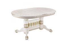 Стол деревянный Кантри молочный с золотой патиной 296156 Кантри молочный с золотой патиной 296156 (14226) Home Me
