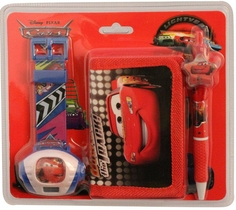 Украшения Набор Тачки: часы, кошелек, ручка синий/красный Disney
