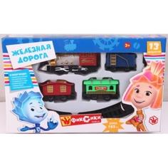 Наборы игрушечных железных дорог, локомотивы, вагоны Фиксики Играем вместе