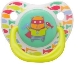 Соска-пустышка силиконовая ортодонтической формы Happy Baby