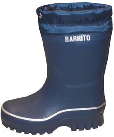 Сапоги резиновые для мальчика Утепленные синие Barkito