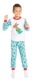 Пижама детская Сновидения белая с голубым Barkito