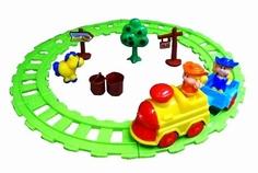 Наборы игрушечных железных дорог, локомотивы, вагоны Веселый фермер Наша Игрушка
