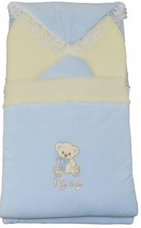 Конверт с одеялом на выписку Мой малыш голубой