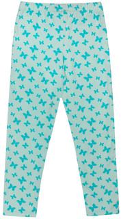 леггинсы для девочки База голубой с рисунком бабочки Barkito